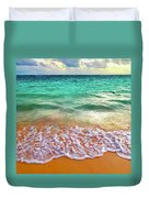 Teal Shore  Duvet Cover