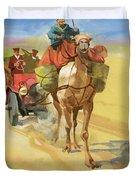 Ten Thousand Mile Motor Race Camel Train Duvet Cover