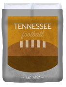 Tennessee Football Minimalist Retro Sports Poster Series 004 Duvet Cover