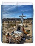 Terlingua Grave Duvet Cover