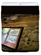 Terra Cotta Warriors In Pit 3 Ruins With Diagram Duvet Cover