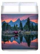 Teton Moose Duvet Cover