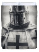 Teutonic Knight Black And White Duvet Cover