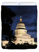 Texas State Capital Dawn Panorama Duvet Cover