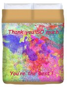 Thank You So Much Hibiscus Abstract Duvet Cover