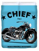 The 1947 Chief Duvet Cover by Mark Rogan