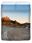 The Badlands And A Sunrise Duvet Cover