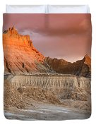 The Badlands With Another Sunrise Duvet Cover