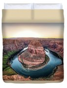 The Bend - Horseshoe Bend At Sunset In Arizona Duvet Cover