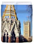 The Buxton Memorial Fountain London Duvet Cover
