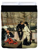The Captain And The Mate, 1873 Duvet Cover