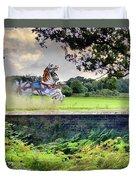 The Carousel Horses Escaping Duvet Cover