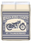 The Classic Thunderbird Motorcycle Duvet Cover