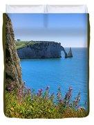 The Cliffs Of Etretat Duvet Cover