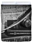 The Constitutional Lawyer In Black And White Duvet Cover