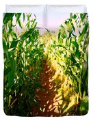 The Corn Maze #2 Duvet Cover
