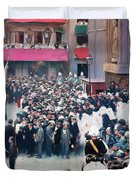 The Corpus Christi Procession Leaving The Church Of Santa Maria Del Mar - Digital Remastered Edition Duvet Cover