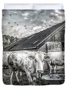 The Cows Came Home Black And White Duvet Cover