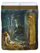 The Dream Of Lancelot Study Duvet Cover