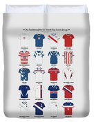 The Evolution Of The Us World Cup Soccer Jersey Duvet Cover