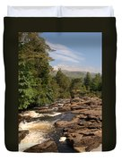 The Falls Of Dochart And Bridge At Killin In Scottish Highlands Duvet Cover