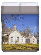 The Farmhouse, Washhouse And Garage Duvet Cover