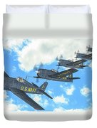 The First Blue Angels - Oil Duvet Cover