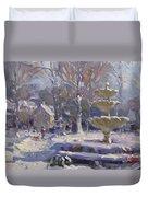 The Frozen Fountain Duvet Cover