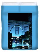 The Gateway Arch And The City Duvet Cover
