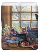 The Good Harvest Country Kitchen By Richard Pranke Duvet Cover