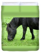 The Grass Is Greener Here. The Black Pony Duvet Cover