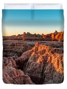 The High And Low Of The Badlands Duvet Cover
