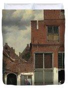 The Little Street, 1658 Duvet Cover