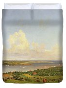 The Narrows From Staten Island Duvet Cover