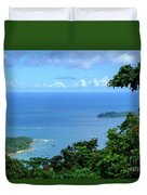 The North Bay As Seen From Mount Harriett Duvet Cover