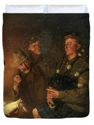 The Pipes By Firelight Duvet Cover
