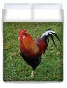 The Pose Of The Rooster Duvet Cover