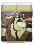 The Proud Husky Duvet Cover