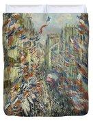 The Rue Montorgueil In Paris  Celebration  Duvet Cover