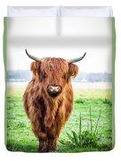 The Scottish Highlander Duvet Cover
