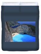 The Shipwreck Beach Zakynthos Greece Duvet Cover