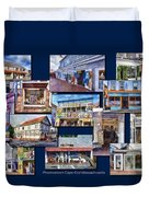 The Shops Of Provincetown Cape Cod Massachusetts Collage Pa Duvet Cover