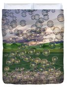 The Simplicity Of Bubbles  Duvet Cover