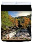 The Sinks On Little River Road In Smoky Mountains National Park Duvet Cover