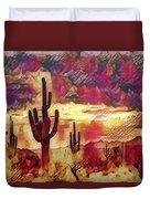 The Sonoran Saguaro  Duvet Cover