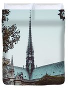 The Spire - Cathedral Of Notre Dame Paris France Duvet Cover