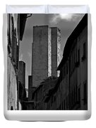 The Twin Towers Of San Gimignano, Italy Poster Duvet Cover