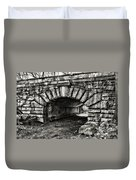 The Underpass Black And White Duvet Cover