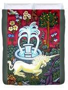 The Unicorn And Garden Duvet Cover