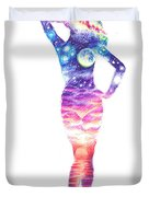 The Universe In Her Soul Duvet Cover